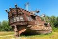 Abandoned old sailing ship Royalty Free Stock Photo