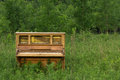 Abandoned Piano with Copy Space Royalty Free Stock Photo