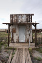 Abandoned post office cisco utah a small wooden offices building in a ghost town in usa the wooden building is in a dilapidated Royalty Free Stock Image