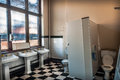 Abandoned public toilet interior of an bandoned victorian Royalty Free Stock Photography