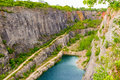 Abandoned Quarry called Big America (Velka Amerika) near Prague, Czech Republic Royalty Free Stock Photo