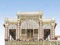 Abandoned railway station of Dakar, Senegal, colonial building Royalty Free Stock Photo