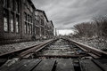 Abandoned railway station near Duisburg Royalty Free Stock Photo