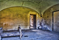 Abandoned room in hdr dirty run down empty old ruins high dynamic range photograph Stock Image