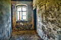 Abandoned room in hdr dirty run down empty old ruins high dynamic range photograph Royalty Free Stock Photos