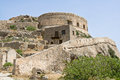Abandoned ruin leper fortress Spinalonga Kalydon Royalty Free Stock Images