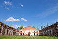 Abandoned Russian landmark, old military quarters Stock Photo