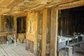 Abandoned shack interior wooden in boyce thompson arboretum state park az Royalty Free Stock Image