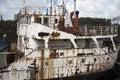 Abandoned ship Stock Photo