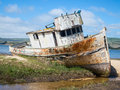 Abandoned ship Royalty Free Stock Photo