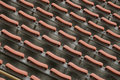 Abandoned stadium seats Royalty Free Stock Photo