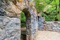 Abandoned Stone House Archway Closeup Royalty Free Stock Photo