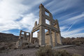Abandoned structure in Rhyolite ghost town Royalty Free Stock Photo