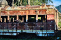 Abandoned train car in the Savannah Station Royalty Free Stock Photo