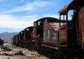 Abandoned Train Cars Royalty Free Stock Photo