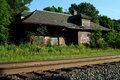 Abandoned train station Stock Photography