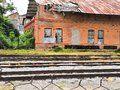 Abandoned train station in Mexico Royalty Free Stock Photo