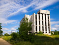 Abandoned unfinished building destroyed concrete structures of Royalty Free Stock Photos