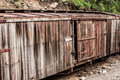 Abandoned, Weathered Boxcar Royalty Free Stock Images