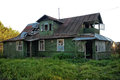 Abandoned wooden house Royalty Free Stock Photo