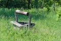 Abandoned wooden well Royalty Free Stock Photo