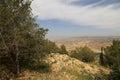 Abandonnez le paysage de montagne vue aérienne jordanie moyen orient Photos libres de droits