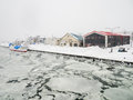 stock image of  Abashiri Port with Drift Ice in Abashiri, Japan