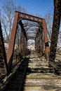 Abavndoned Railroad Bridge - Pennsylvania Royalty Free Stock Photo