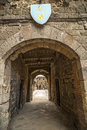 Abbadia san salvatore siena tuscany italy medieval zone arch Royalty Free Stock Photo