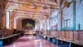 Abbagia monte olivieto maggiore territorial abbey of oliveto asciano italy august refectory of benedictine Stock Photography
