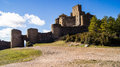 Abbey castle loarre from their position throughout the hoya de huesca dominates aragón spain Stock Image