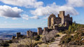 Abbey castle loarre from their position throughout the hoya de huesca dominates aragón spain Royalty Free Stock Photography