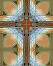 Abbey ceiling cross Stock Photos