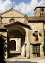 Abbey farfa village benedictine of santa maria di Royalty Free Stock Image