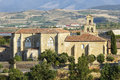 Abbey monastery in canas la rioja cistercian spain Stock Photo