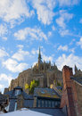 Abbey of mont saint michel france normandy Royalty Free Stock Photo