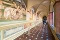 Abbey of monte oliveto maggiore territorial abbagia olivieto asciano italy august frescoes in the benedictine Stock Photos