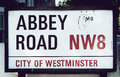 Abbey road sign london united kingdom th may photographed in london is famous for its crossing featured on one of the Royalty Free Stock Image