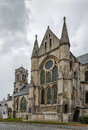Abbey saint leger soissons france church of former Stock Photography
