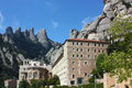 Abbey Santa Maria de Montserrat, Catalonia, Spain. Stock Image