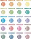 Abbottoni, insieme dei tasti chiari di rosso, blu, verde. Fotografie Stock Libere da Diritti