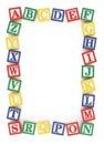 ABC Alphabet Block Frame Royalty Free Stock Photo