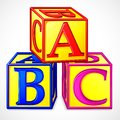 ABC Block Stock Image