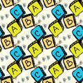 Abc blocks seamless pattern Royalty Free Stock Photo