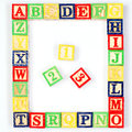 Abc and blocks on white isolated background Royalty Free Stock Image