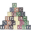 ABC Blocks A-Z Illustration Stock Image