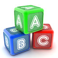 Abc building blocks a colourful d rendered illustration of Royalty Free Stock Photography