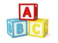 ABC building blocks isolated Royalty Free Stock Photo