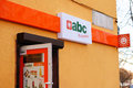 Abc grocery store entrance of a in poland Stock Photography