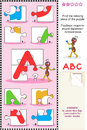 ABC learning educational puzzle Royalty Free Stock Image